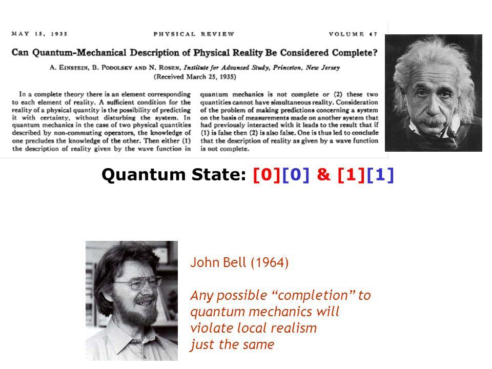 Quantum State: [0][0] & [1][1]